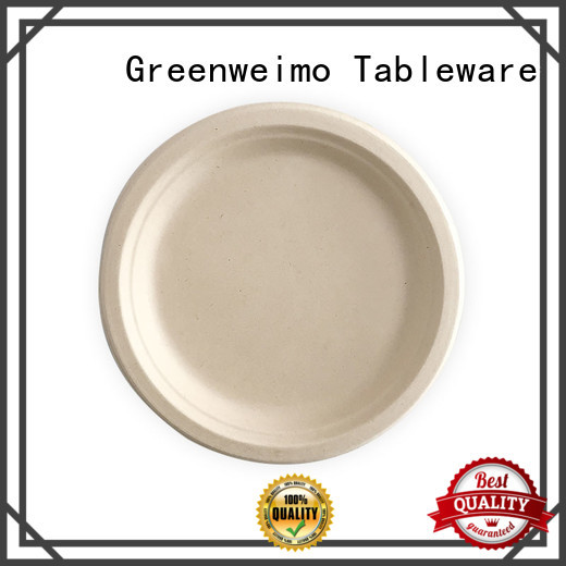 Greenweimo bagasse disposable trays Suppliers for hot food