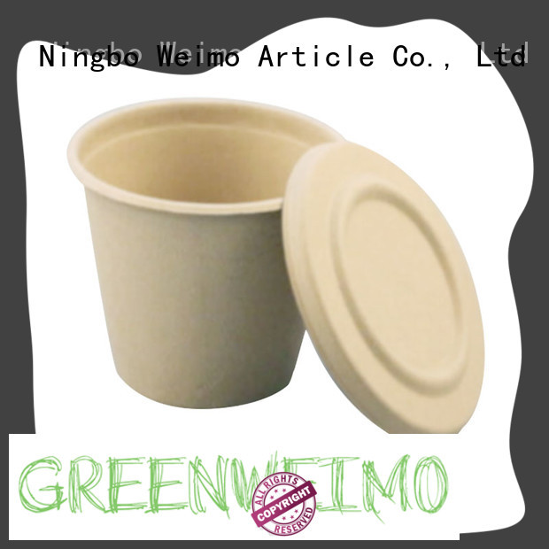 Greenweimo cup biodegradable plates company for water