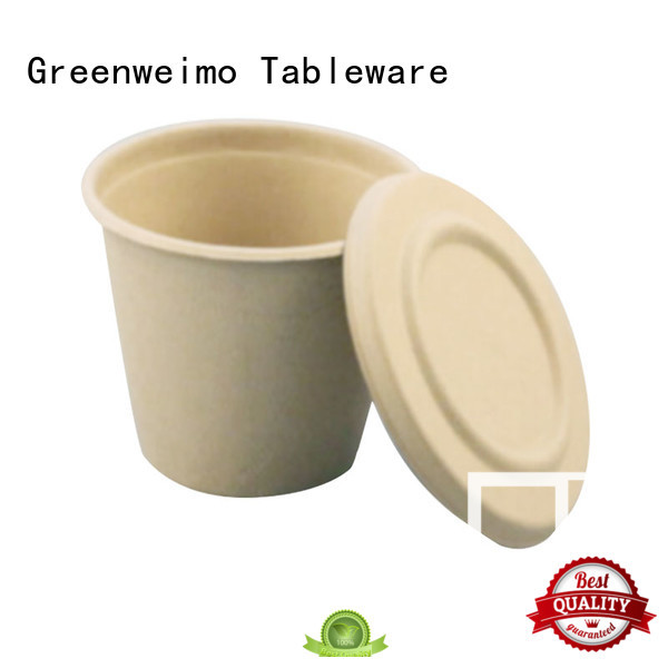 Greenweimo disposable compostable cups tableware for drinking