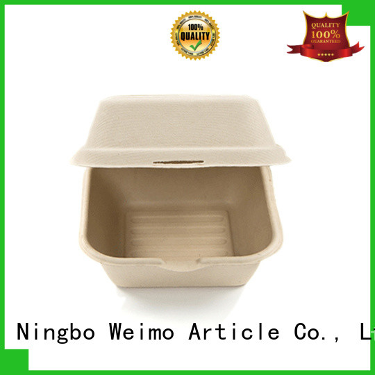 Greenweimo food biodegradable clamshell containers Supply for delivering