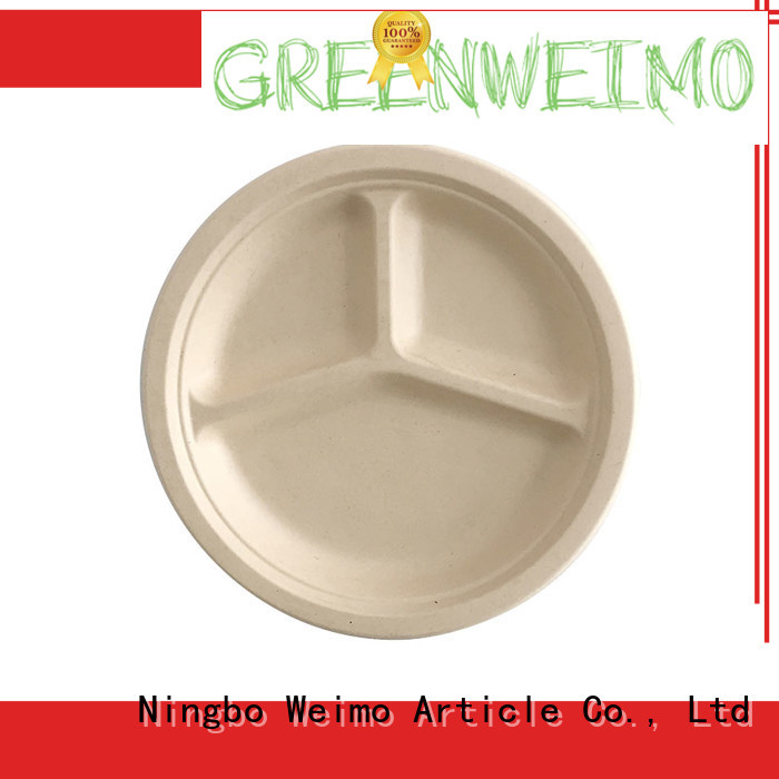 Greenweimo square biodegradable sugarcane products factory for oily food