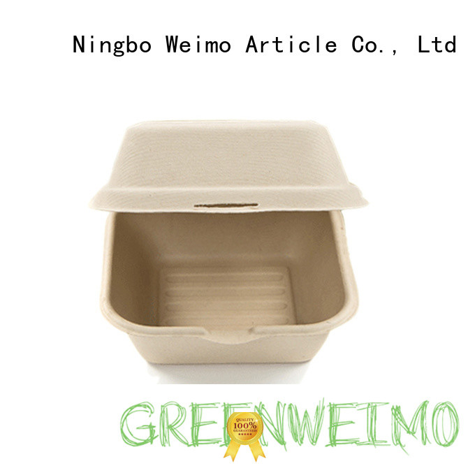 Greenweimo safe biodegradable clamshell foldable for delivering