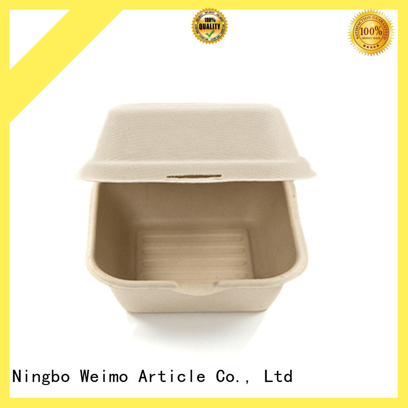 foldable biodegradable clamshell packaging clamshell for delivering Greenweimo