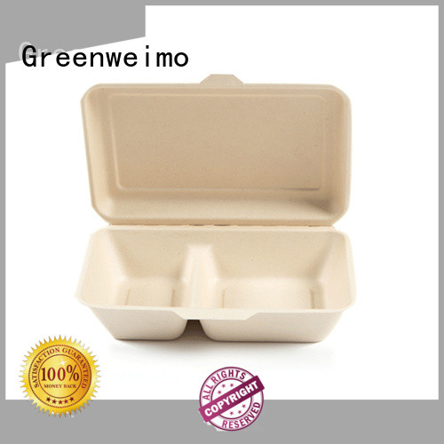 Greenweimo takeaway biodegradable bowls with lids for business for delivering