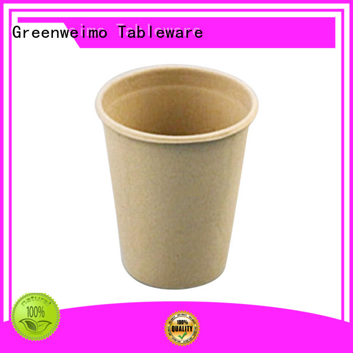 Greenweimo microwave compostable coffee cups factory for water