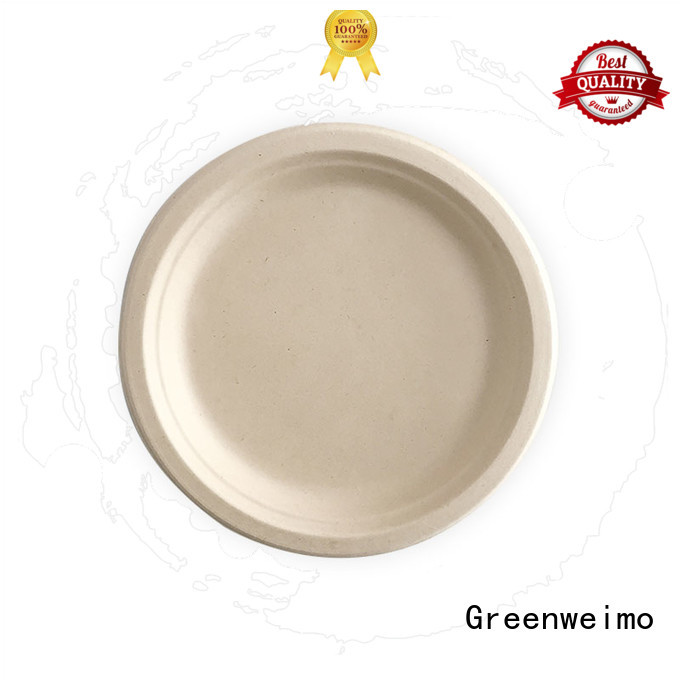 Greenweimo compostable bagasse plate meet different market for activity