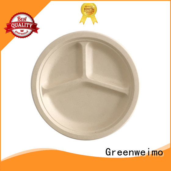 Greenweimo safe bagasse plate on sale for activity