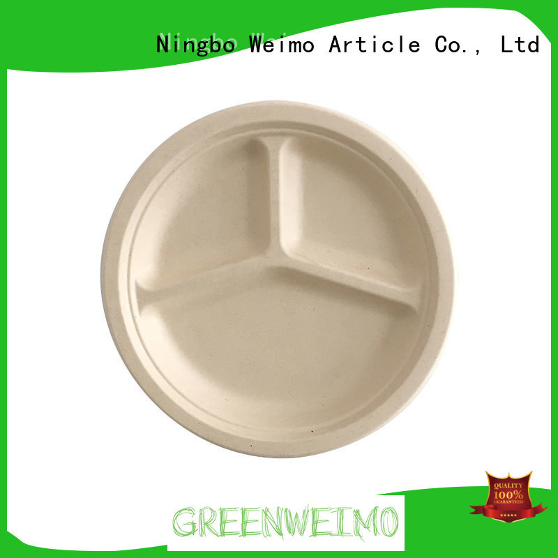 Custom green disposable bowls food for business for hot food