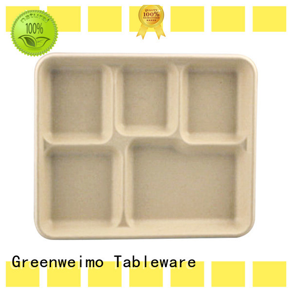 Greenweimo bagssse eco paper plates manufacturers for hot food