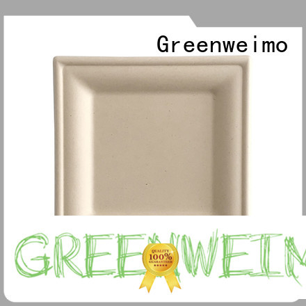 Greenweimo bagasse plate on sale for hotel