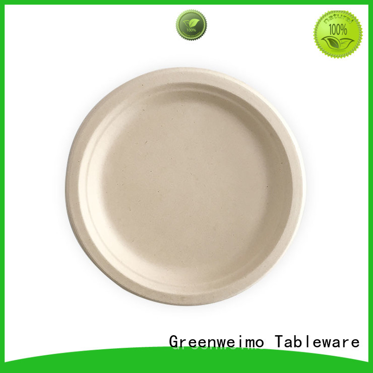 round biodegradable plate meet different market for activity