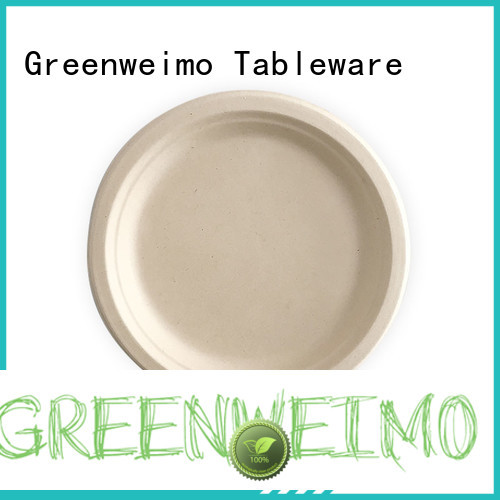 Greenweimo bagasse compostable plates and cutlery for business for oily food