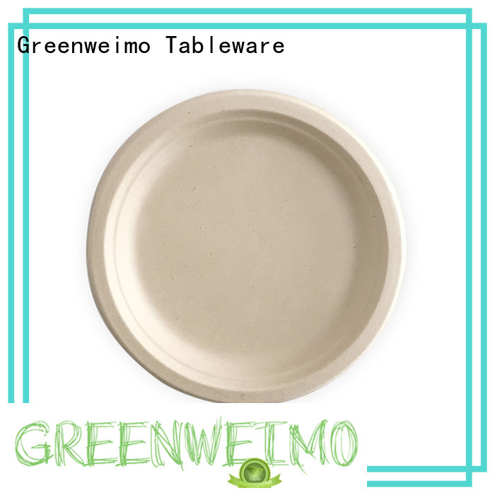 Greenweimo round biodegradable plate on sale for hotel