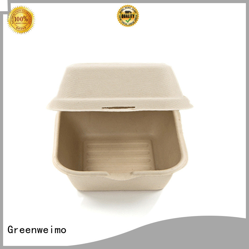 Greenweimo useful sugarcane box clamshell for delivering