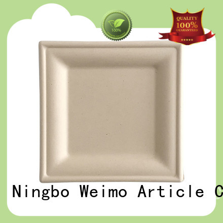 Wholesale sugarcane paper plates biodegradable Suppliers for party
