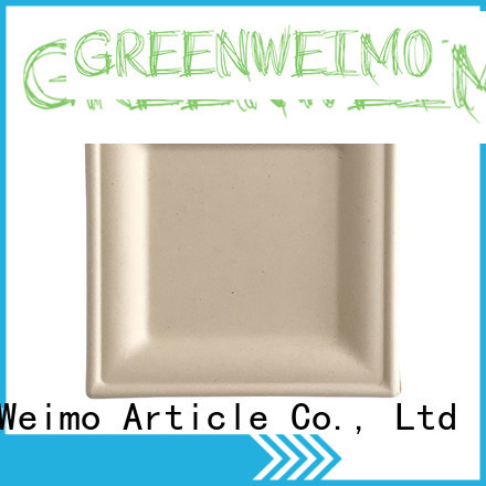 Greenweimo compartment biodegradable disposables Suppliers for oily food