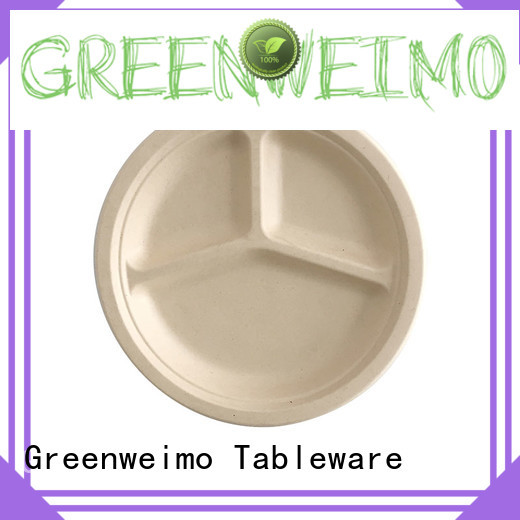 Greenweimo round biodegradable plate on sale for activity