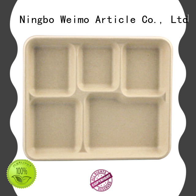 Greenweimo bagasse trays on sale for wet food