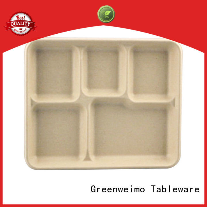 Greenweimo biodegradable tray meet different market for hot food