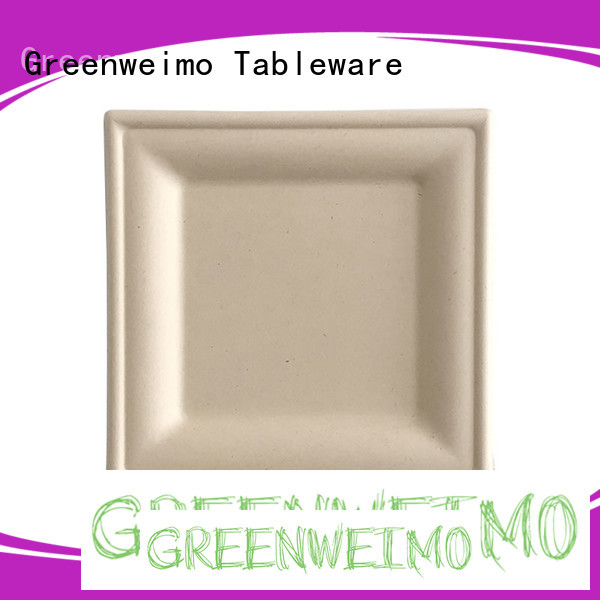 Greenweimo High-quality eco friendly paper plates manufacturers factory for hot food