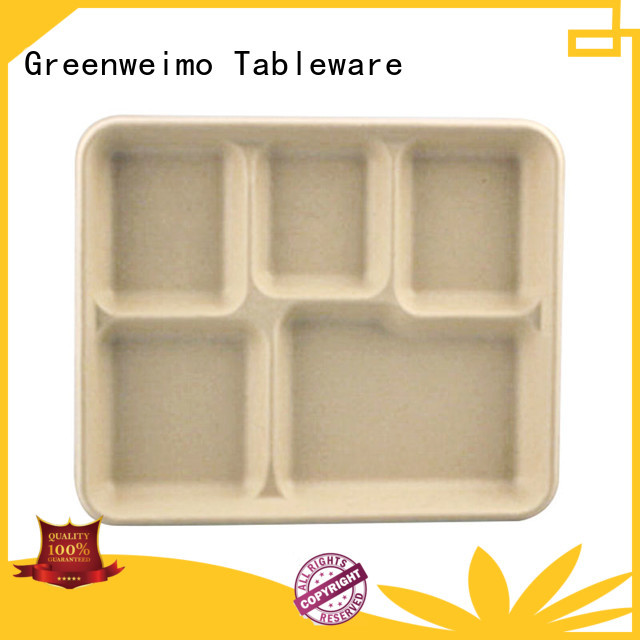 Greenweimo sugarcane biodegradable containers factory for party
