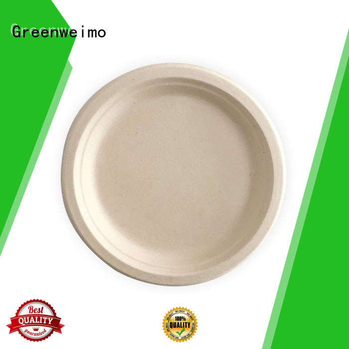 Greenweimo biodegradable plate compartment for hotel