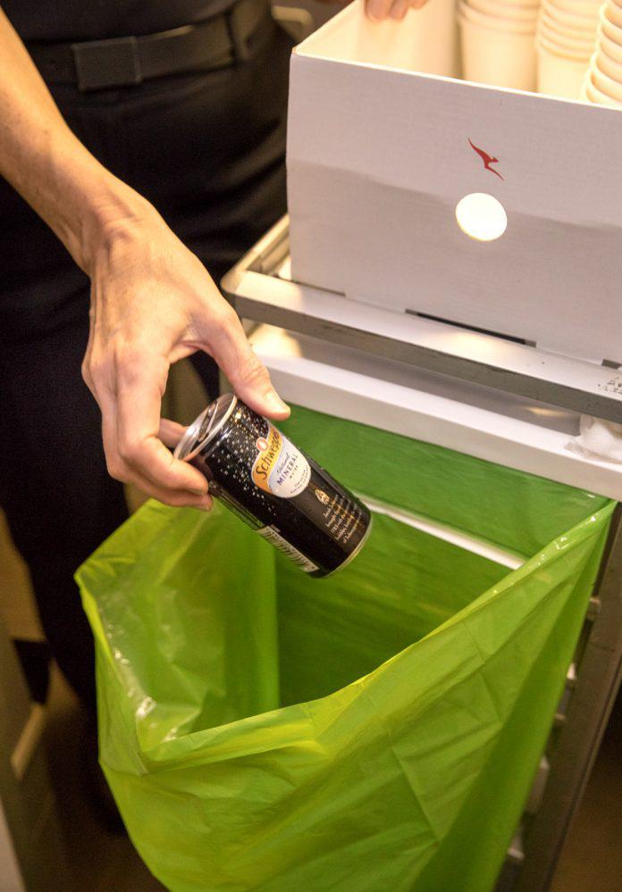 Qantas Zero Landfill Flight Cabin Waste Disposal