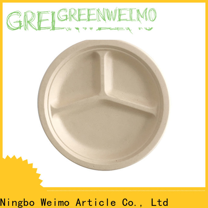 Greenweimo New eco friendly paper plates and cups Supply for oily food