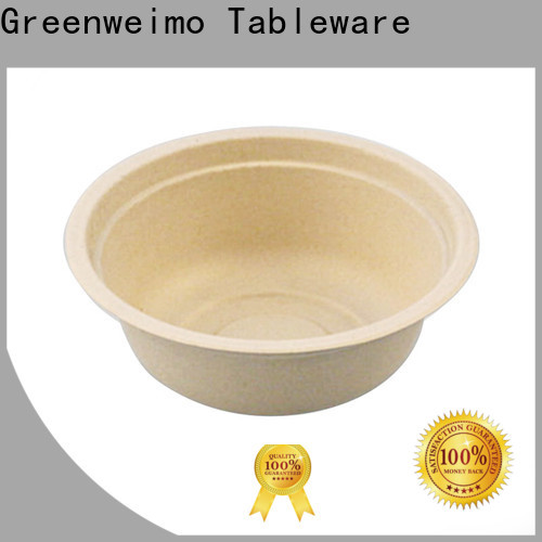 Greenweimo bagasse biodegradable soup bowls factory for food