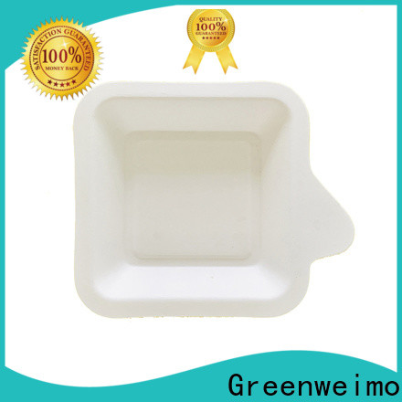 Greenweimo cake sugarcane tray factory for oily food