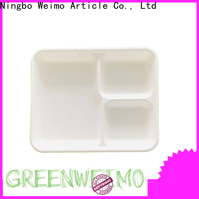 Greenweimo contanier green paper tray factory for party
