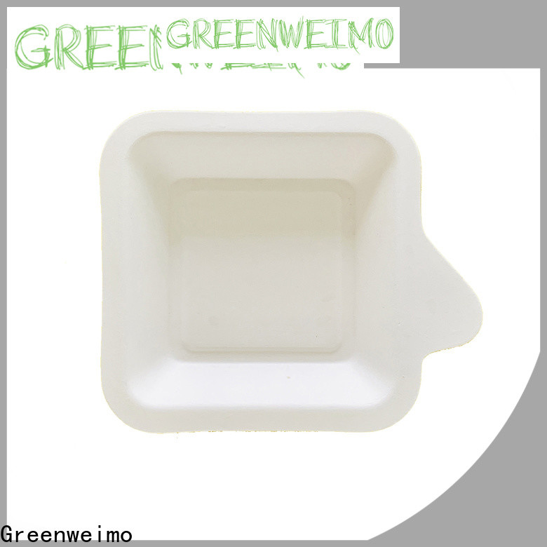 Greenweimo biodegradable meal tray factory for oily food