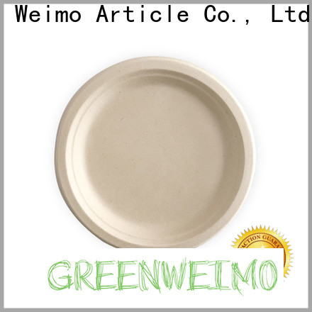 Custom sugarcane plates wholesale oval Supply for wet food