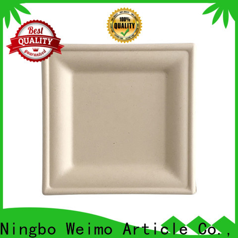 Custom recycled paper plates bio for business for hot food