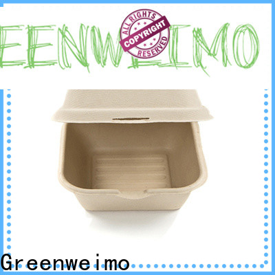 Greenweimo takeout biodegradable clamshell packaging Supply for package