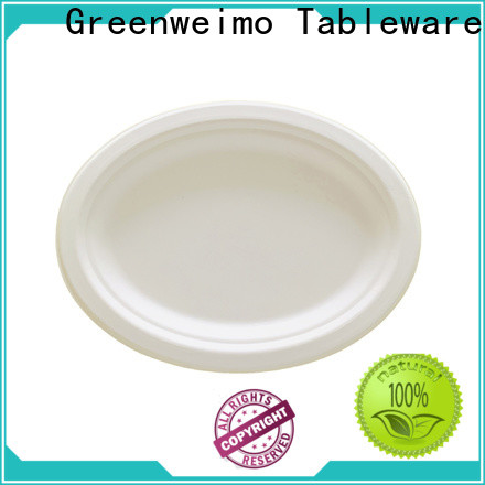 Greenweimo New sugarcane paper plates company for party