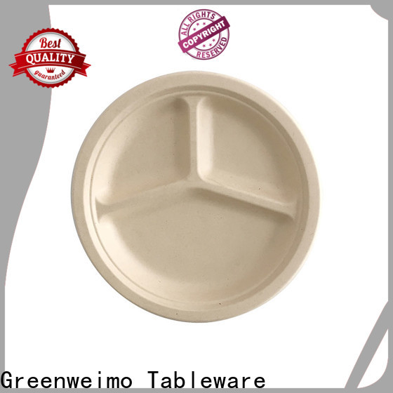 Greenweimo bagasse recycle plates and bowls manufacturers for party