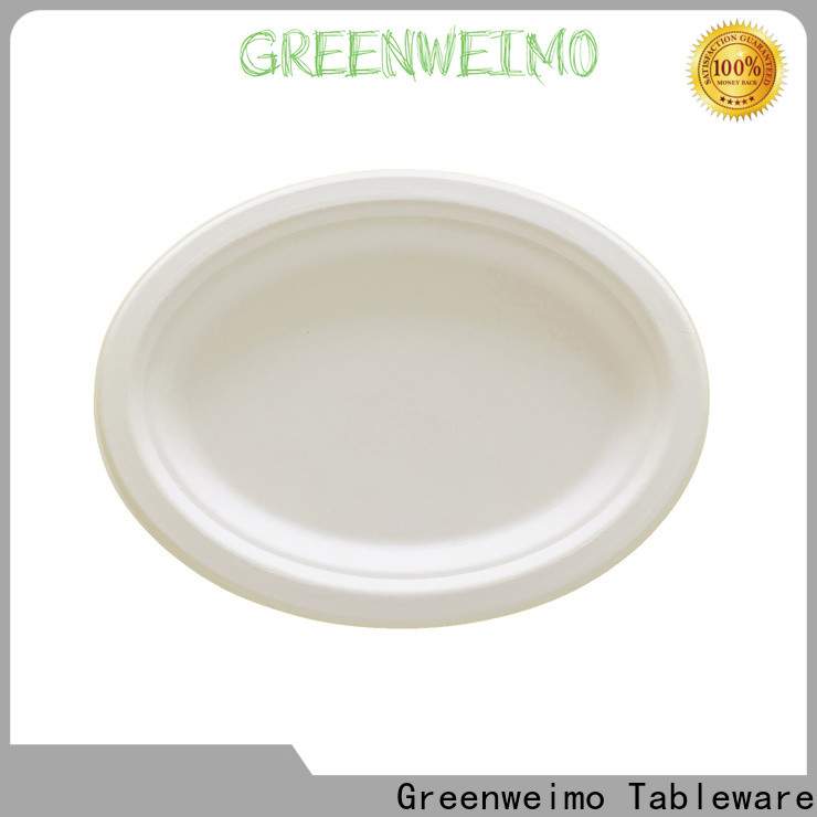 Greenweimo compartment bio disposable plates manufacturers for oily food