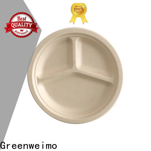 Greenweimo biodegradable eco friendly paper plates manufacturers Suppliers for oily food