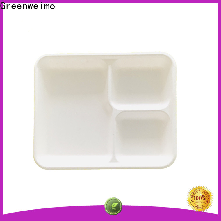 Greenweimo wheat eating trays Suppliers for hot food