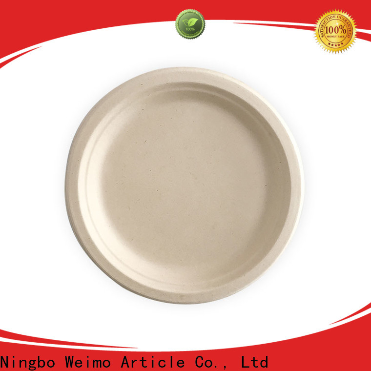 Greenweimo High-quality eco friendly paper plates manufacturers Supply for oily food