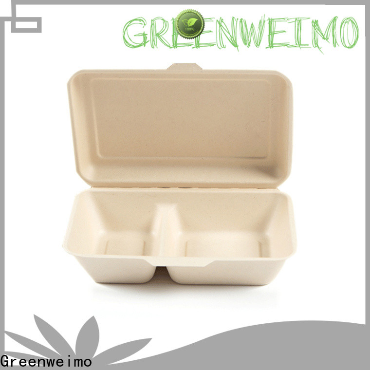 Greenweimo foldable biodegradable containers Supply for food