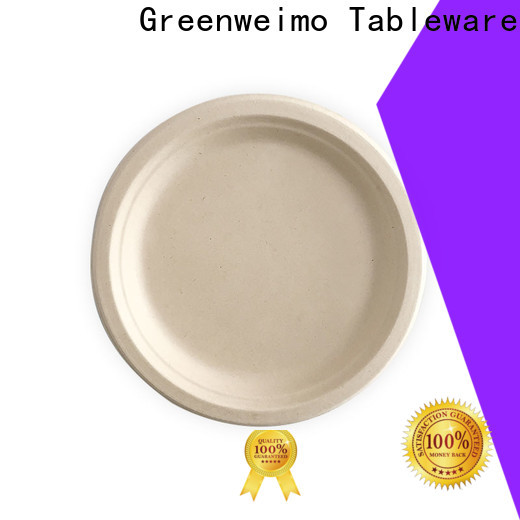 Greenweimo Wholesale biodegradable party plates factory for hot food