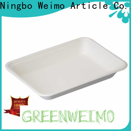 Greenweimo white biodegradable lunch trays Supply for wet food