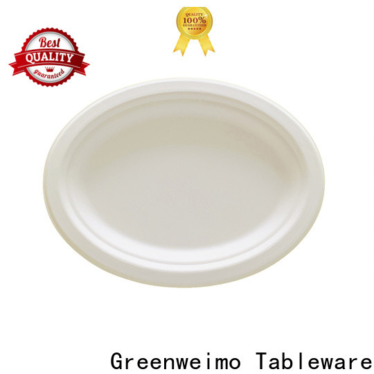 Greenweimo round green disposable bowls Supply for hot food
