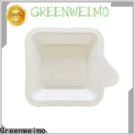 Greenweimo compartment biodegradable packing Supply for party