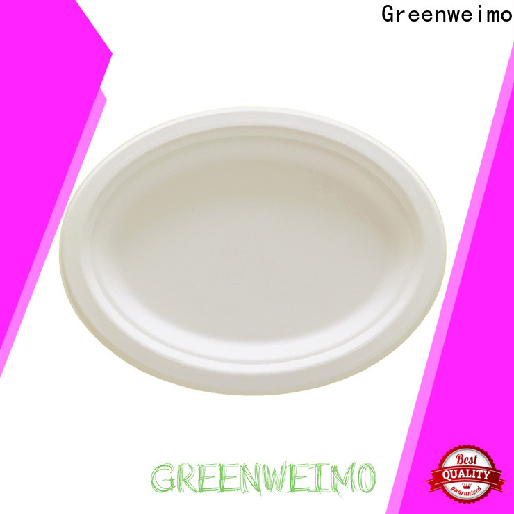 Greenweimo ellipse eco party plates for business for hot food