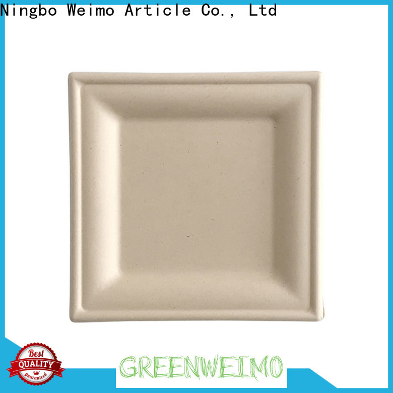 Greenweimo oval disposable plates and cups factory for hot food