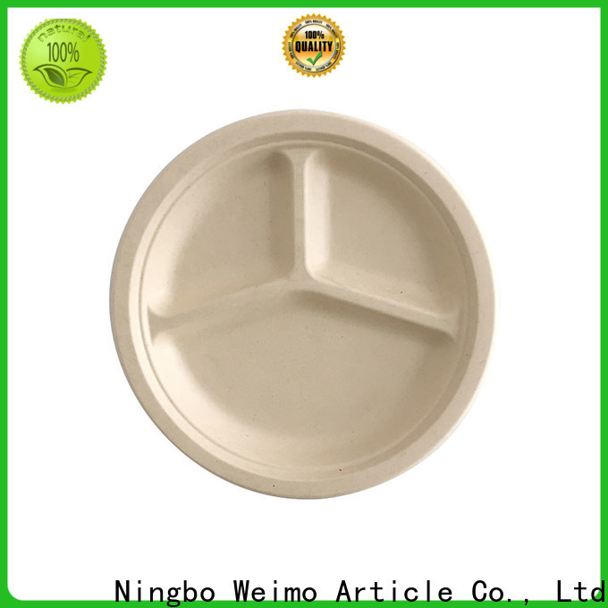 Custom recycled paper plates bagasse company for party