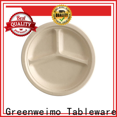 Greenweimo Best compostable plates and cutlery company for hot food